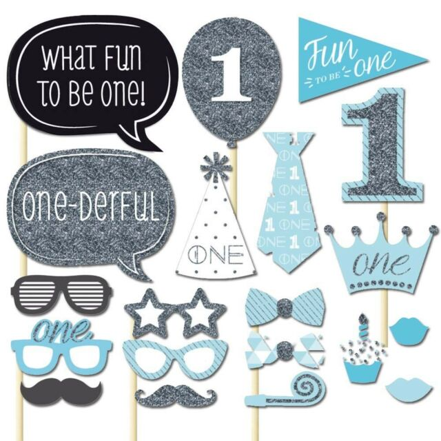 20x Photo Booth Props Baby Shower 1st First Birthday Party