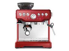 Breville Barista Cranberry Red Espresso Coffee Machine with Grinder BES870XL