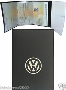 pochette etui porte carte grise volkswagen 4 volets en gomme noire souple ebay. Black Bedroom Furniture Sets. Home Design Ideas