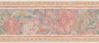 Abstract Vintage Peach Flower Violet Pattern 2 Roll 30 Feet 30' Wallpaper Border