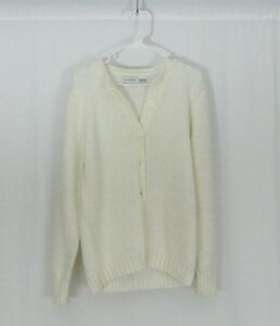 e1cd5a0dccc8 Jacobson s Vintage Off White Acrylic Knit Cardigan Sweater Women s ...