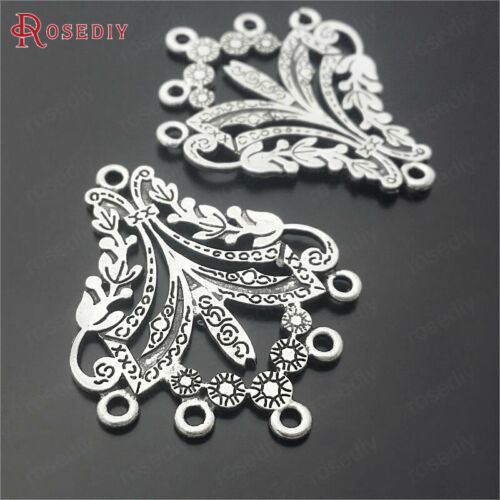 10PCS 36*30MM Zinc Alloy Earrings connector charms Jewelry Findings Accessories