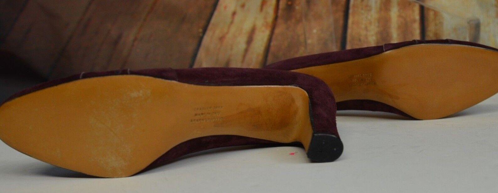 Salvatore Ferragamo Suede Größe 9 AA Leder Suede Ferragamo Burgundy Wine 2.5