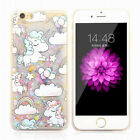 Cute Unicorn Dynamic Quicksand Glitter Liquid Case Cover For iPhone 6 6S 7 Plus