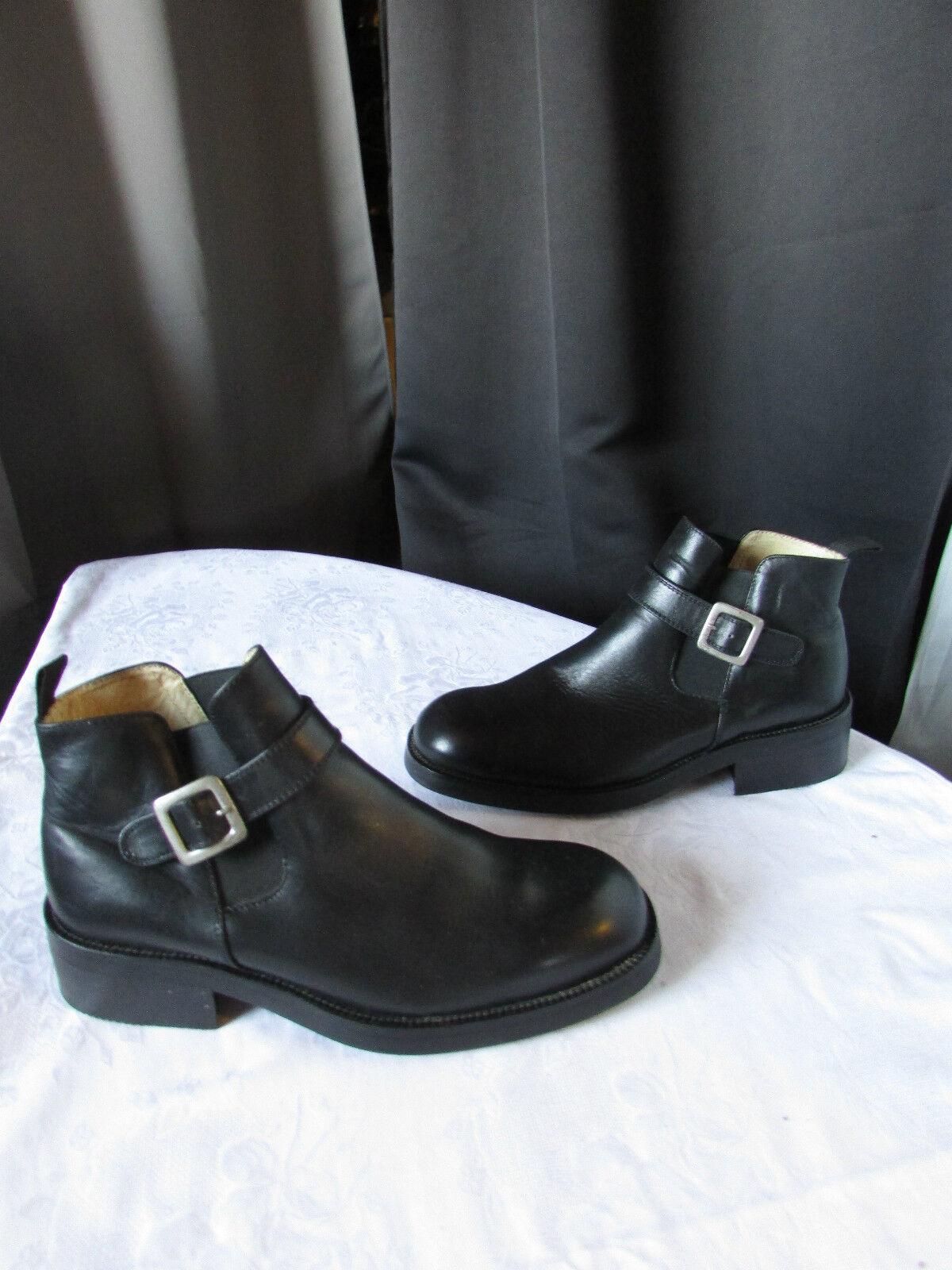 boots/bottines the authentic davison cuir noir 40