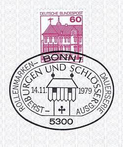 Ouvert D'Esprit Rfa 1979: Château Rheydt Nº 1028 Avec Le Propre Bonner Cachet Spécial! 1a! 153-afficher Le Titre D'origine