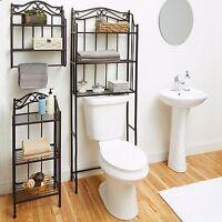 Bathroom Cabinet Over the Toilet Storage Rack Space Saver Shelf Organizer Bronze