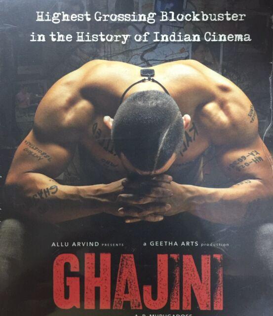 GHAJINI DVD - AAMIR KHAN - BOLLYWOOD MOVIE DVD / REGION FREE / MULTI SUBTITLES