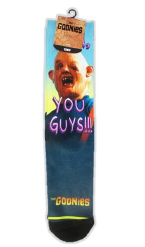 The Goonies You Guys Sublimated Crew SocksSloth Men/'s Quickturn Sock Size 10-13