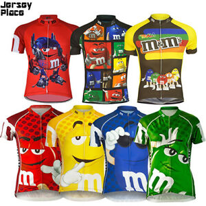 M-amp-M-Team-Cycling-Jersey-Retro-Road-Pro-Clothing-MTB-Short-Sleeve-Racing-Bike