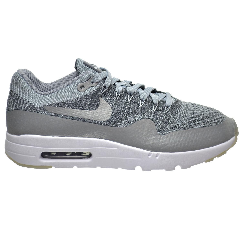 Nike Air Max 1 Ultra Flyknit Men's Shoes Wolf Grey/Dark Grey/White 843384-001