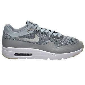 98f65962901 Nike Air Max 1 Ultra Flyknit Men s Shoes Wolf Grey Dark Grey White ...