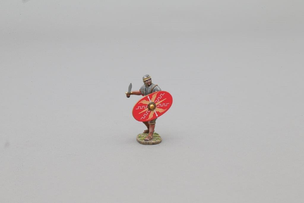 THOMAS GUNN ROM029A - Auxillary Sword (Red Shield) Painted Metal Figure