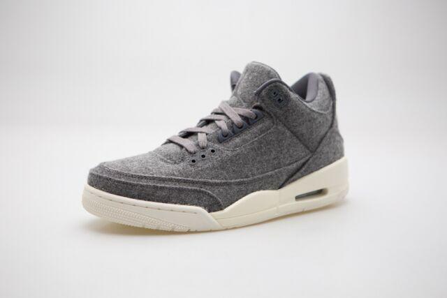 d256ecb41af Nike Air Jordan 3 Retro Wool III Dark Grey Sail Men Basketball ...