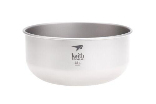 Shipped from USA 60.9 fl oz Keith Titanium Ti8701 Ultralight Salad Bowl