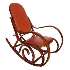 SEDIA POLTRONA A DONDOLO THONET LIBERTY PRIMI '900 ROCKING CHAIR - MA M07