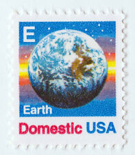 """EARTH """"E"""" STAMP Unused 25 cent US POSTAGE STAMP USPS 2277 Domestic USA Space NEW"""