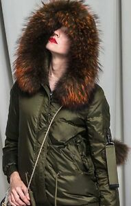 Women's With Jacket Bomber Fur Winter Genuine rwqf6r