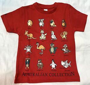 4dd08f64b80 Kid Boy   Girl AUSTRALIA FUNNY ANIMAL COLLECTOR SOUVENIR T-shirt All ...