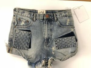 26 Nwt Teaspoon in in Outlaws Rips Blossom Size Shorts 128 denim Blue One Women's PrB1qP
