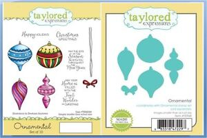 Taylored Expressions Stamp/Die Combo Set ~ ORNAMENTAL Christmas, Decor -88/968