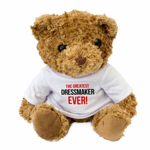 Teddy Bear GREATEST DRESSMAKER EVER NEW Cute Cuddly Gift Present Award