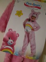 Care Bears Deluxe Cheer Bear Toddler Costume S 2t Jumpsuit Headpiece Furry