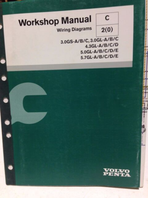 Volvo Penta Workshop Manual Wiring Diagrams P  N 7743606  Gbox2