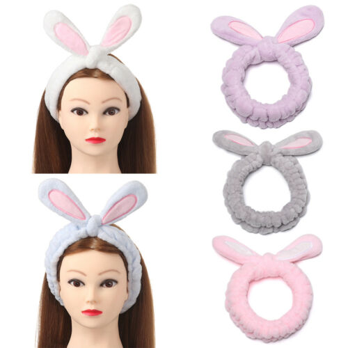 1pcs Rabbit Bunny Ear Makeup Headband Mask Soft Hair Band Women Face Wash Band~