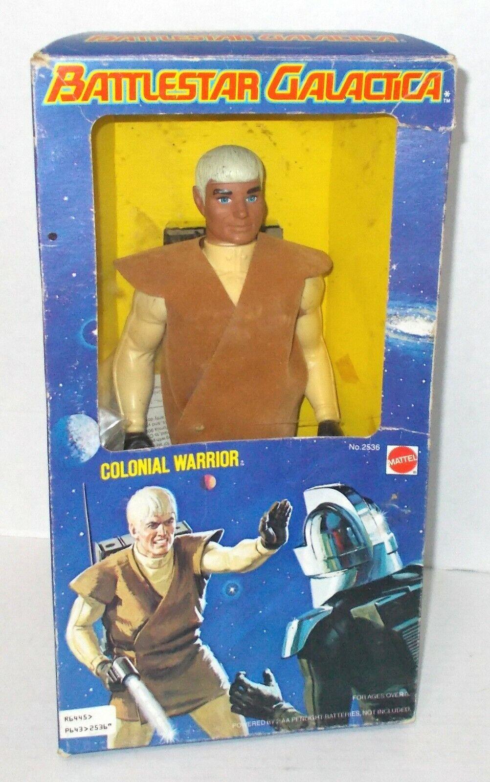 Mattel battleSTAR GALACTICA COLONIAL WARRIOR FIGURE 1978 NMIB NEAR MINT IN BOX