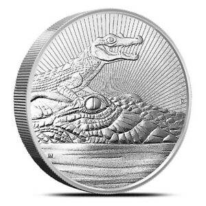 2019-2-Mother-amp-Baby-Crocodile-2-oz-Piedfort-Silver-Coin-Perth-Mint