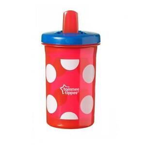 Tommee-Tippee-Free-Flow-Super-Sipper-6-M-300ml-Red-White-Dots