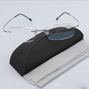 d14ef220c82f Image is loading Rimless-Glasses-Rx-Optical-Eyeglasses-Memory-Titanium- Spectacles-