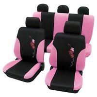 Car Seat Covers Pink & Black Flower Pattern -mitsubishi Outlander 2007 Onwards