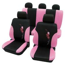Girly Car Seat Covers Lady Pink & Black Flower pattern -Mazda 3 2006 Onwards