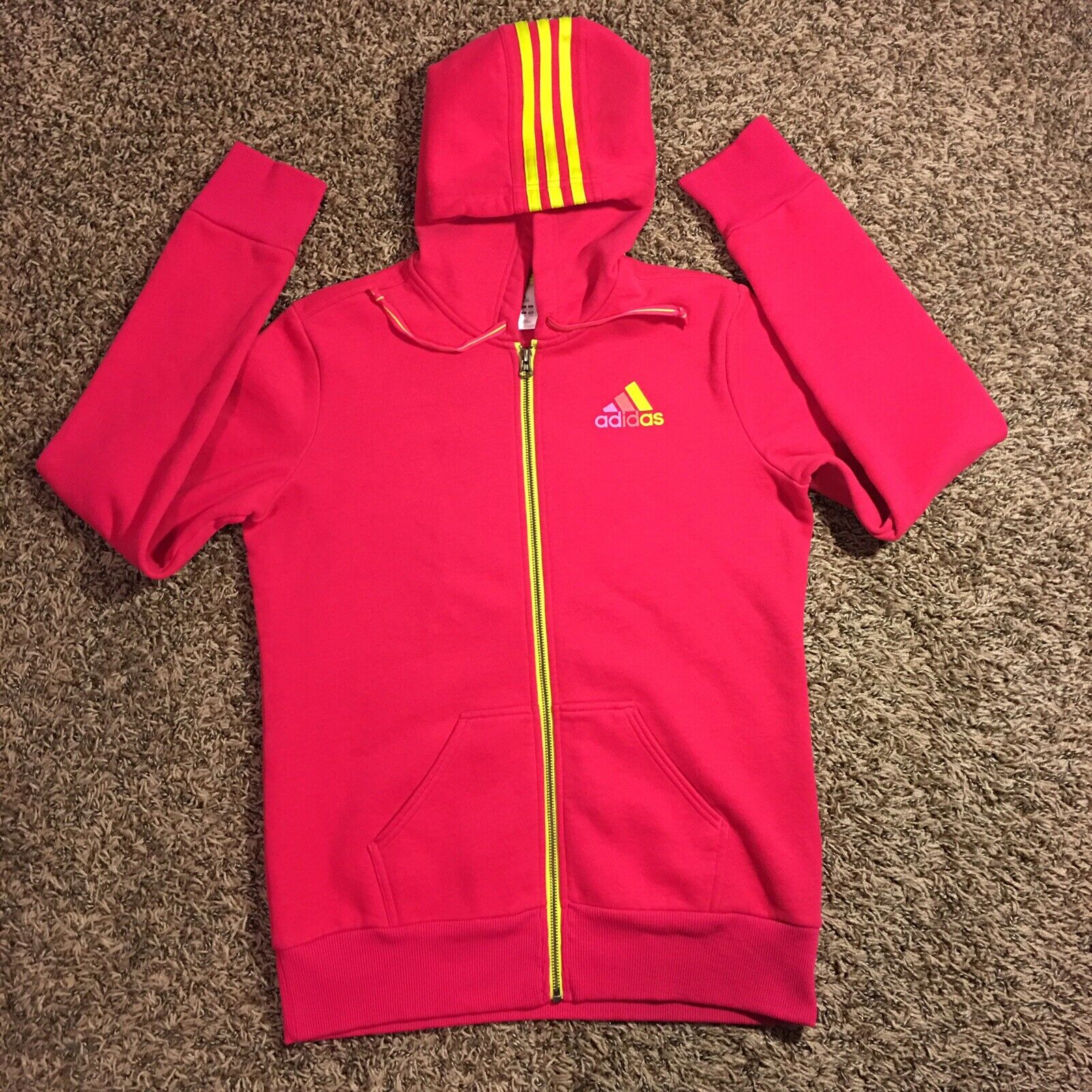 8136e4491 Adidas Women's Pink Sweatshirt Hoodie Full Full Full Zip Size (Medium)  c977dd