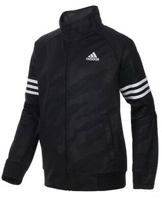 Adidas Boy's Black Red Zip Up Zipper Hoodie Sweatshirt M 10 12 EUC Embroidered | eBay