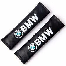 2x Bmw Racing Carbon Fiber Seat Belt Shoulder Pads Cushions Cover For Bmw
