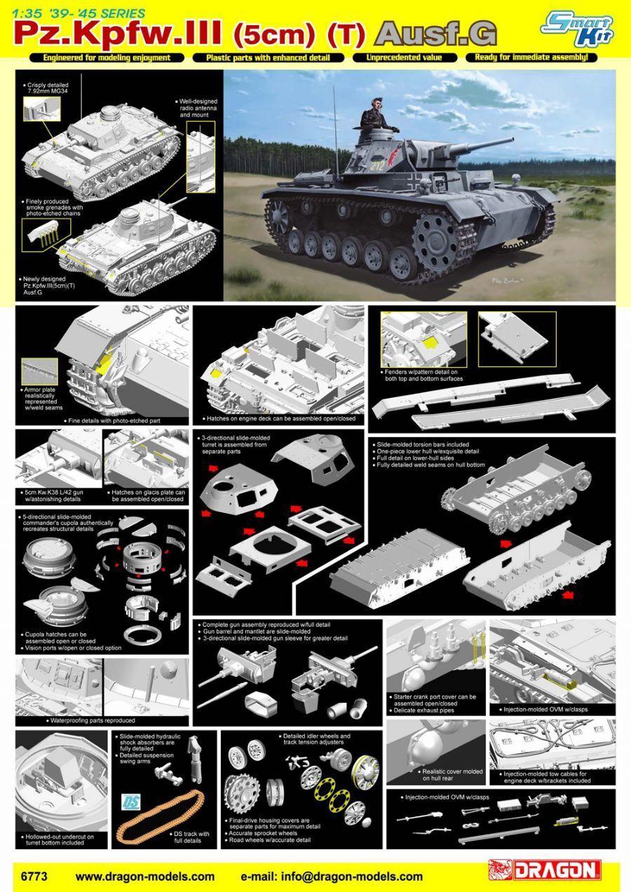 1 35 Dragon Pz.Kpfw.III (5cm) (T) Ausf.G