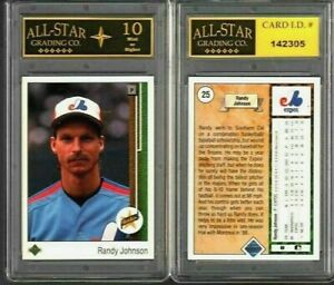 Randy Johnson 1989 Upper Deck Rookie Card #25 GRADED ASG 10 MINT #G
