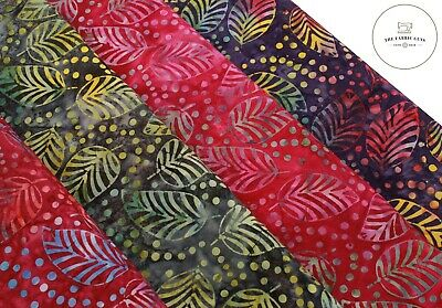 Melody Butterfly Print 9 Colours 112cm Wide Batik Effect 100/% Premium Cotton