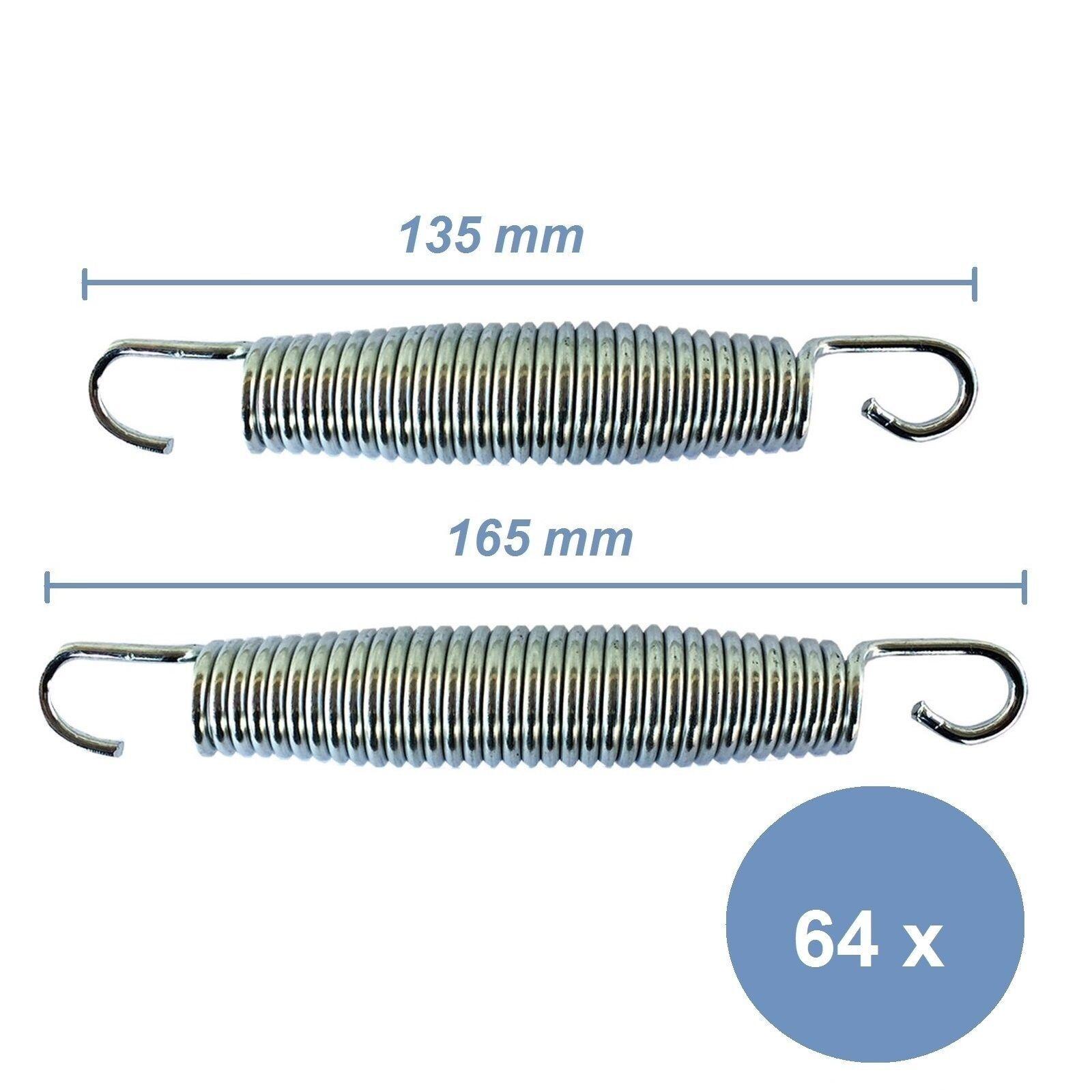 Trampolin Sprungfedern 64 64 64 Stück Trampolinfedern Federn 13 5 cm oder 16 5 cm 9c9cc5
