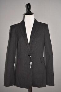 AKRIS PUNTO NEW $1200 Black Printed Structured Blazer Size 6