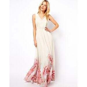 Das Bild wird geladen Damen-Vintage-Boho-Maxikleid-Sommer-Abendkleid- Cocktail-Partykleid- ae81d10306