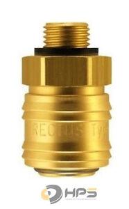 """Rectus Druckluftkupplung 1//2/"""" Aussengewinde Druckluft Schnellkupplung NW 7,2mm"""