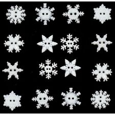 Jesse James Buttons Dress It Up  ~ Glitter Winter Snowflake Sew Craft Scrap