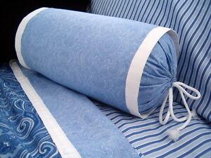 White Neckroll Decorative Pillow : NEW Custom Ralph Lauren Putney Paisley Neckroll Pillow Neck Roll White Flange eBay