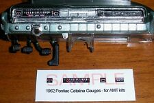 1962 PONTIAC CATALINA 421 SD GAUGE FACES!! - for 1/25 scale AMT KITS