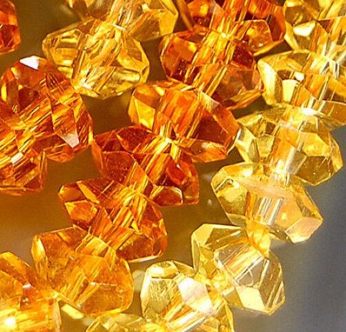 "3x6mm Faceted Colorful Quartz Rondelle Beads 14.5"""