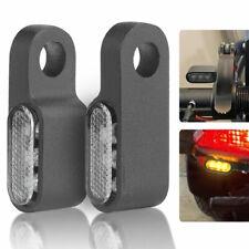 2x Mini Motorcycle Led Turn Signals Blinker Light Indicator Amber Lamp Black
